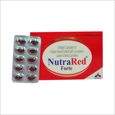 Softgel Capsules Of Grape Seed Extract With Lycopene Lutien And Beta Cardene Capsules