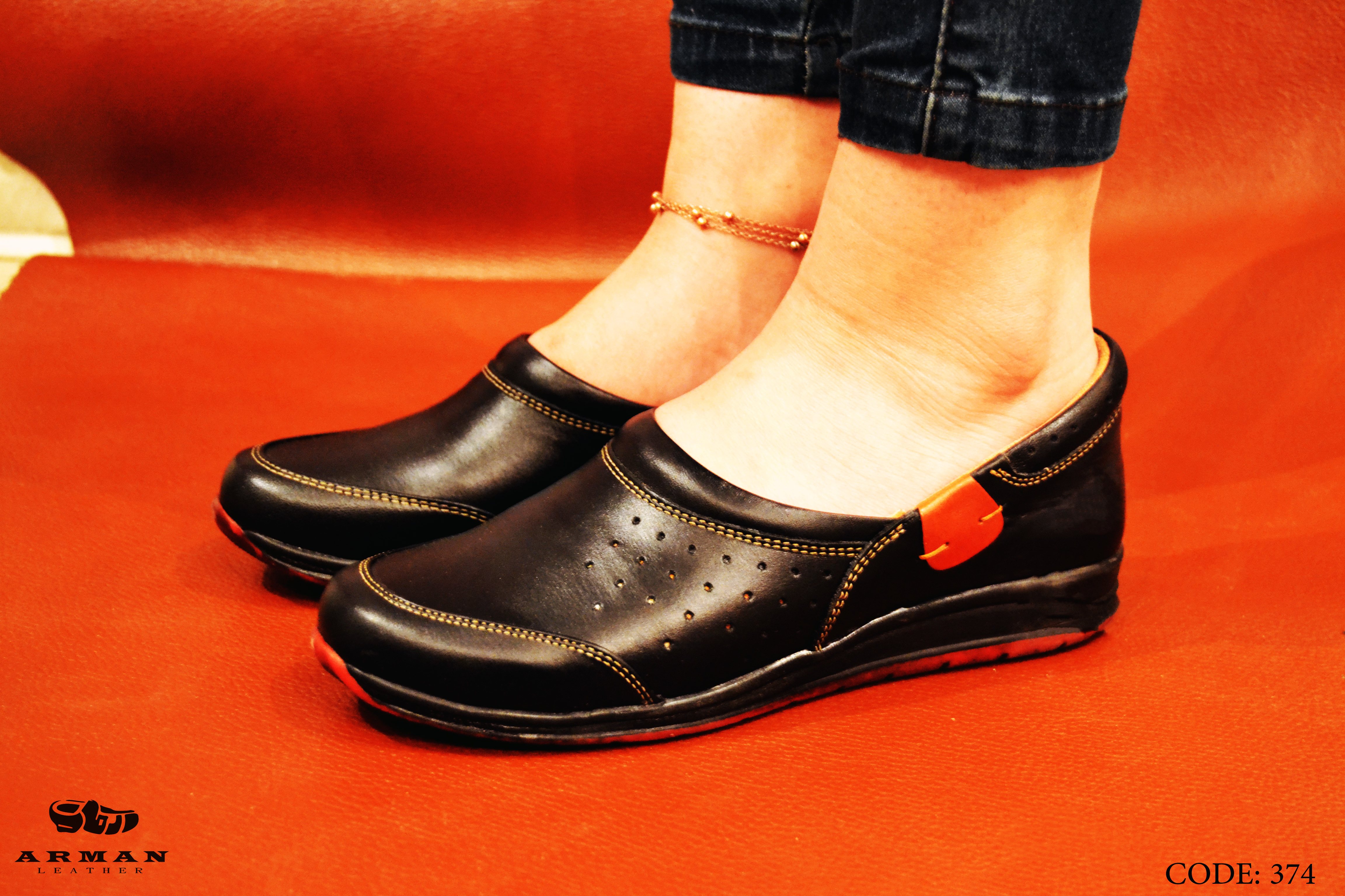 Casual Genuine Leather Lady Shoes
