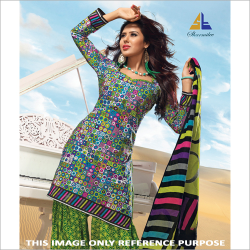 Unstitched Printed Ladies Suit