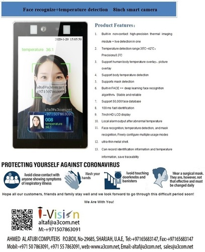 face detection and temprature
