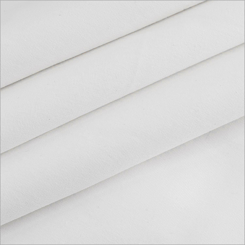White Cotton Lycra Fabric