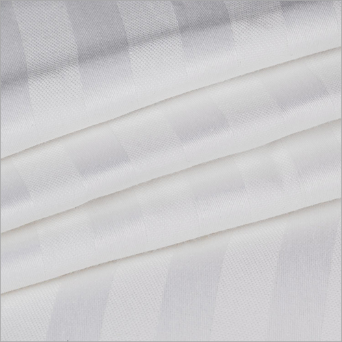 White Satin Stripe Fabric