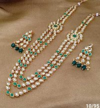 Kundan and Polki Mala Set