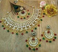 Choker Kundan Necklace with Earrings and Maang Tika