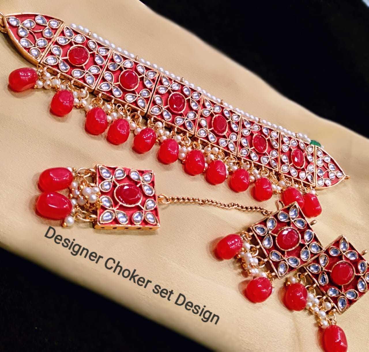 Kundan Chowker Necklace Set