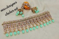 Kundan Beaded Choker Necklace Set