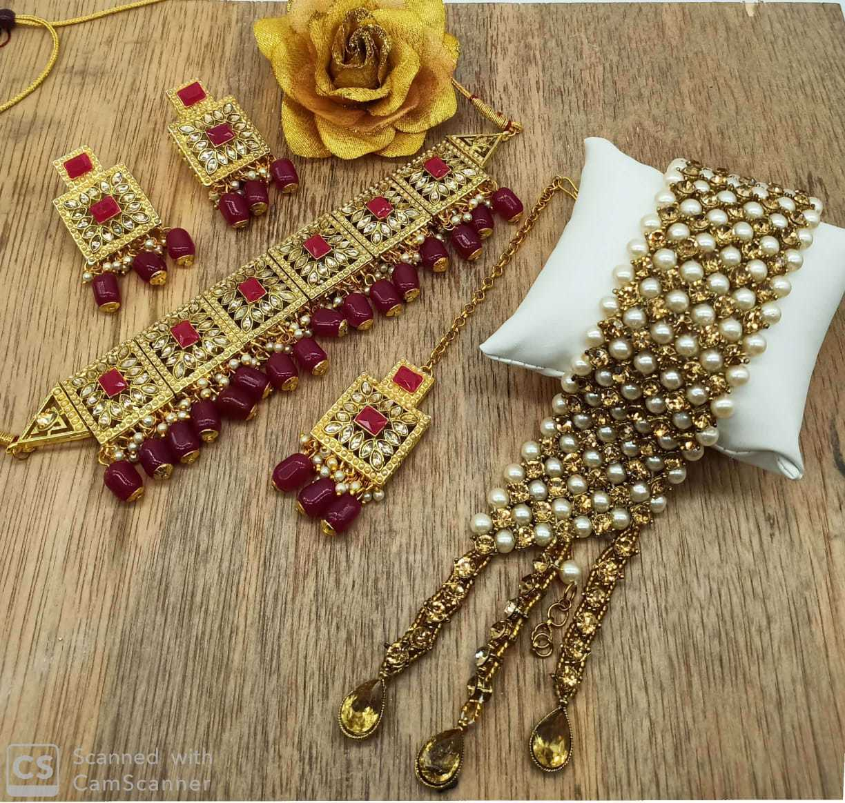 Kundan Choker Necklace With Earring and Bracelet