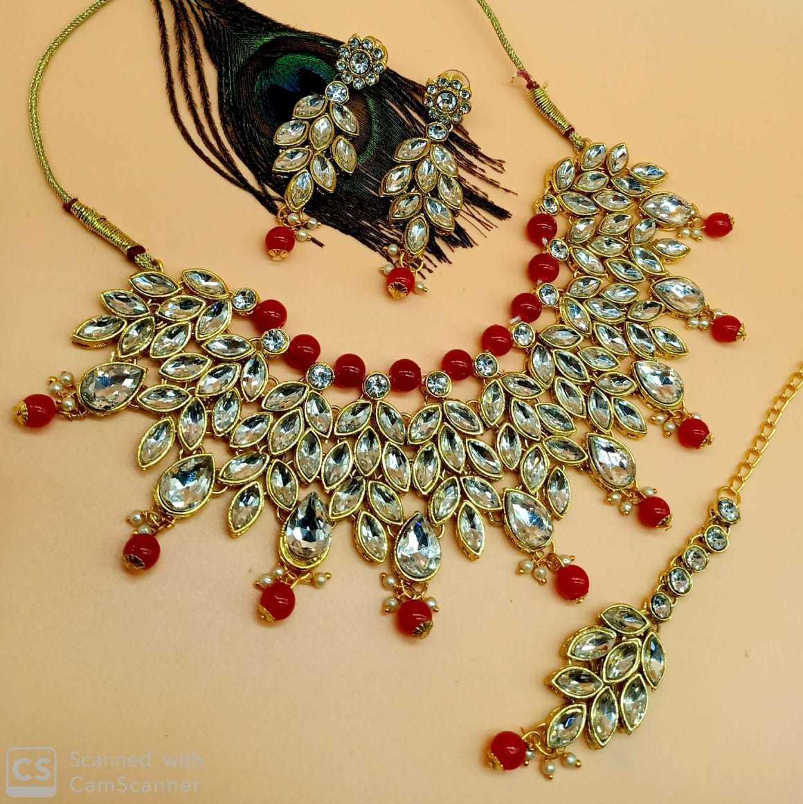 Bollywood Style Kundan Necklace Set