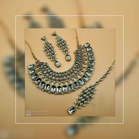 Colorful Kundan Choker Necklace Set