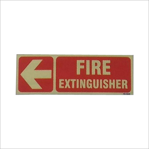 Fire Extinguisher Placement Auto Glow Sign