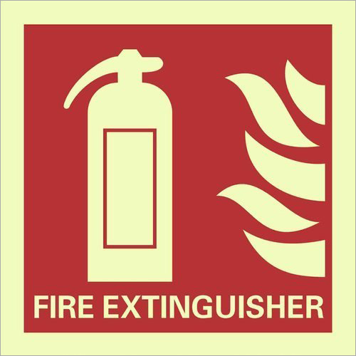 Auto Glow Sign For Fire Extinguisher