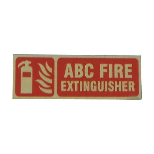 ABC Fire Extinguisher Auto Glow Sign
