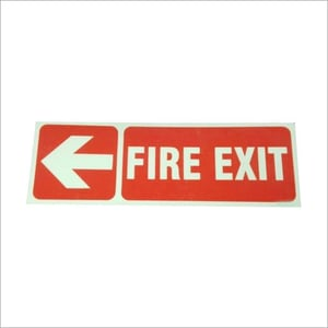 Fire Exit Auto Glow Sign