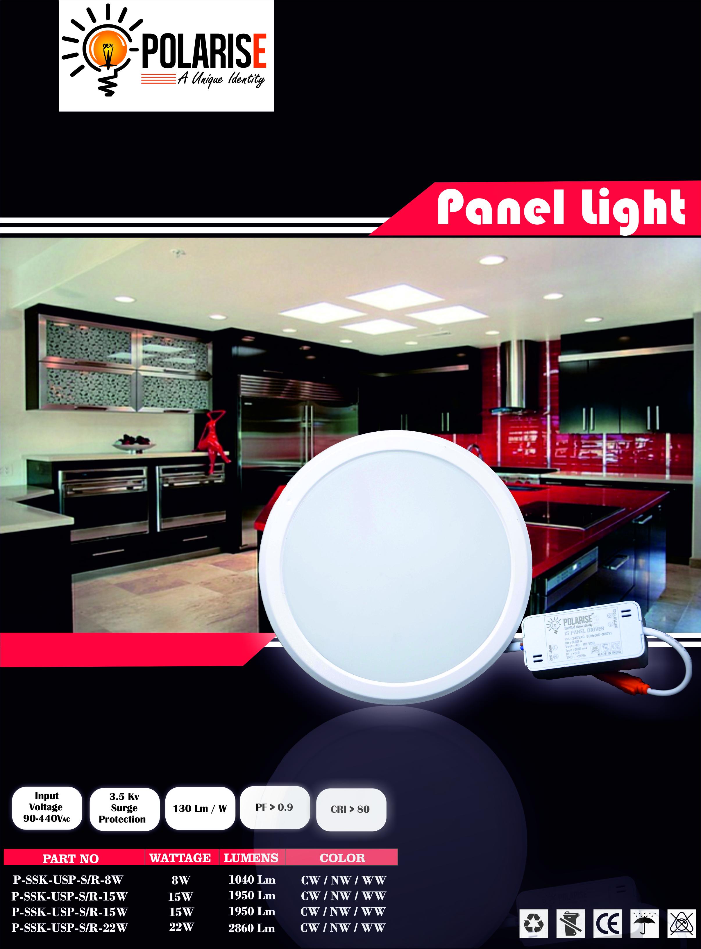 12W Round PC Panel Light