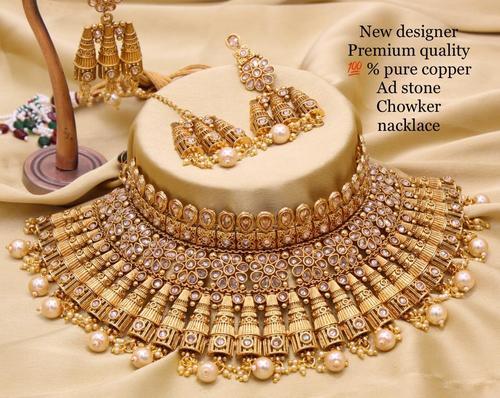 Bridal Golden Choker Necklace