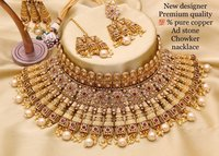 Bridal Golden Choker Necklace