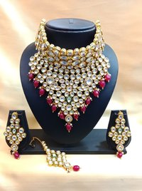Bridal Polki Choker Necklace Set