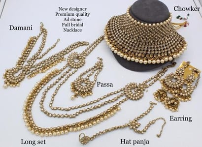 Wedding Bridal Full Necklace Set With All Accessories