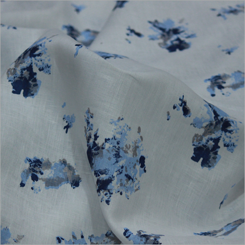Linen Print Fabric Material