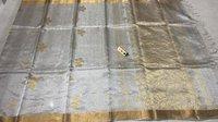 Pure tissue tussar silk handloom all over boota jala saree.