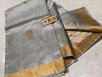 Pure tissue tussar silk handloom all over boota jala saree.