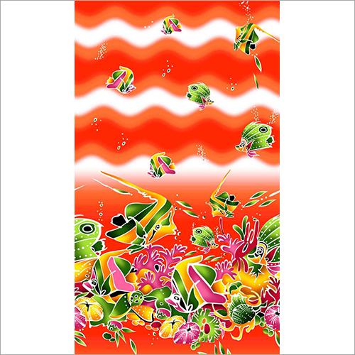 Printed Peach Pareos Fabric