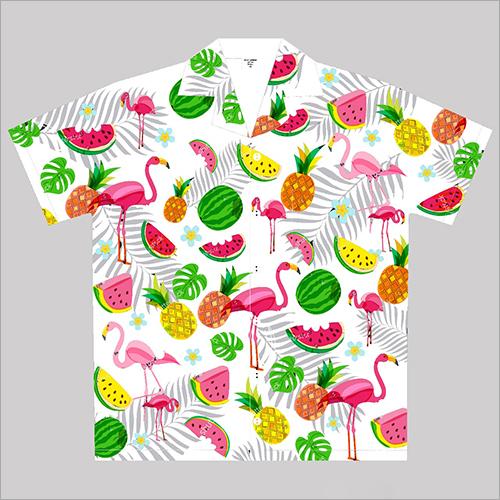 Beach Wear Cotton Printed Shirt