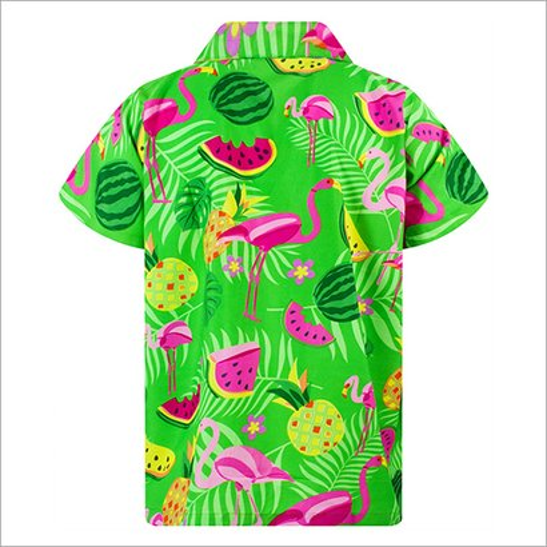 Polyester Hawaiian Printed Shirt