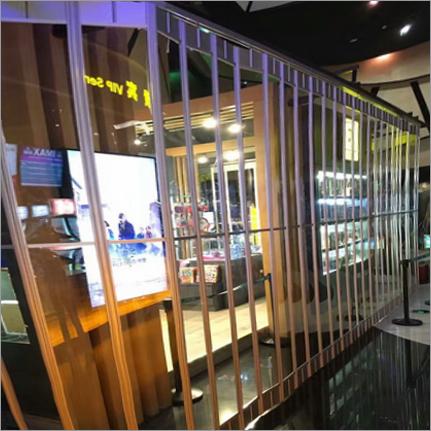 High Transparent Commercial Folding Door