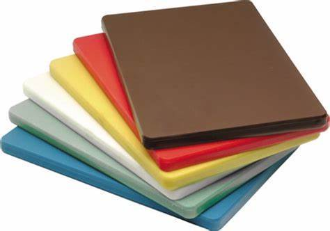 Chopping Board Hdpe White, Yellow, Brown, Red, Blue, Green 18 X 12 X 1