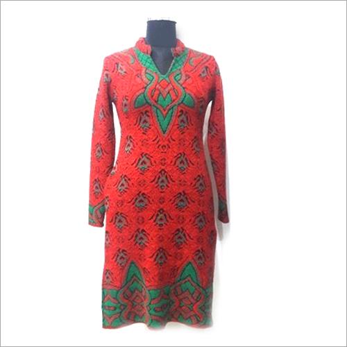 Ladies Printed Woolen Kurti