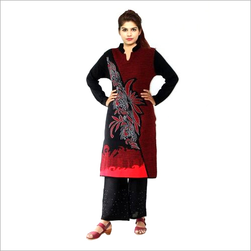 Ladies Fancy Woolen Palazzo Suit