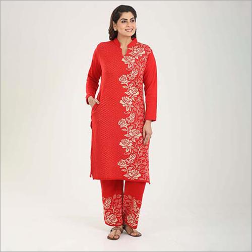Ladies Casual Woolen Palazzo Suit