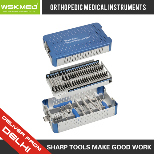WSKMED Broken Screw Removal Instrument Set I Orthopedic Trauma Surgical Instrument Hospital Medical