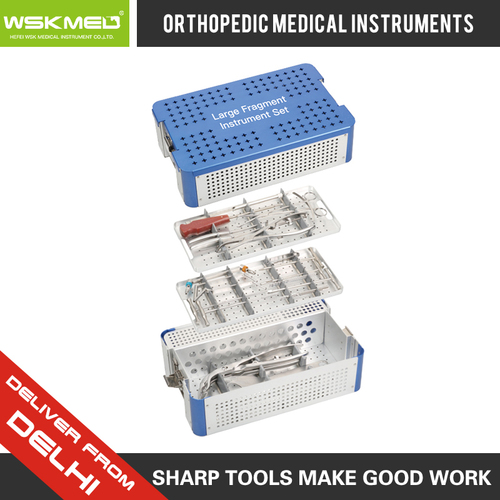 WSKMED Large Fragment Instrument Set Orthopedic Trauma Surgical Instrument Hospital Medical