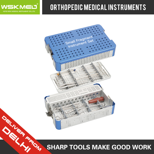 WSKMED Small Fragment Instrument Set Orthopedic Trauma Surgical Instrument Hospital Medical