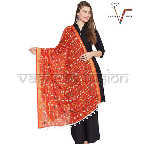 Bandani Embroidered Dupatta