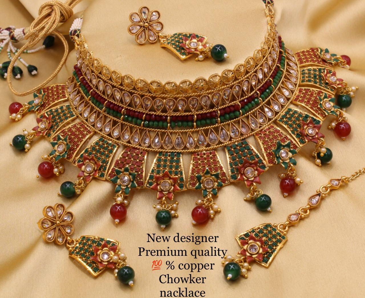 Meenakari Choker Necklace Set