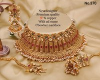 Designer Bridal Necklace Set with Earrings and Maang Tika