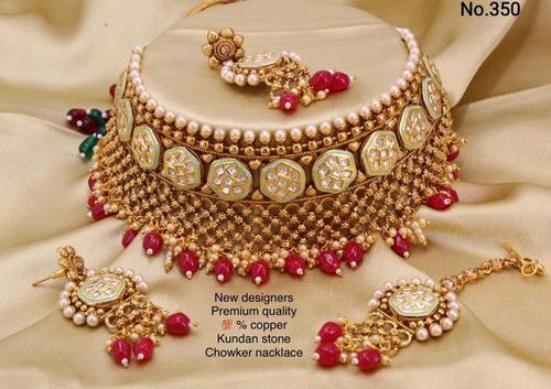 Bridal Heavy Choker Necklace Set