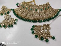 Heavy Kundan Bridal Choker Necklace Set