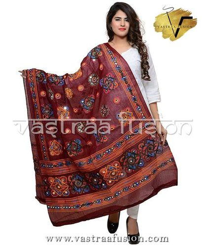 BROWN CHAKACHAK DUPATTA