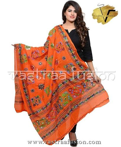 ORANGE CHAKACHAK DUPATTA