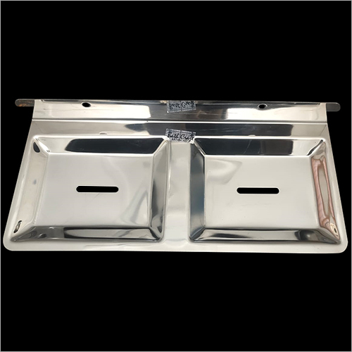 Stainless Steel Double Square Soap Dish