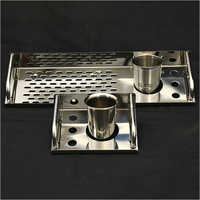 Stainless Steel Toothbrush Holder Tray
