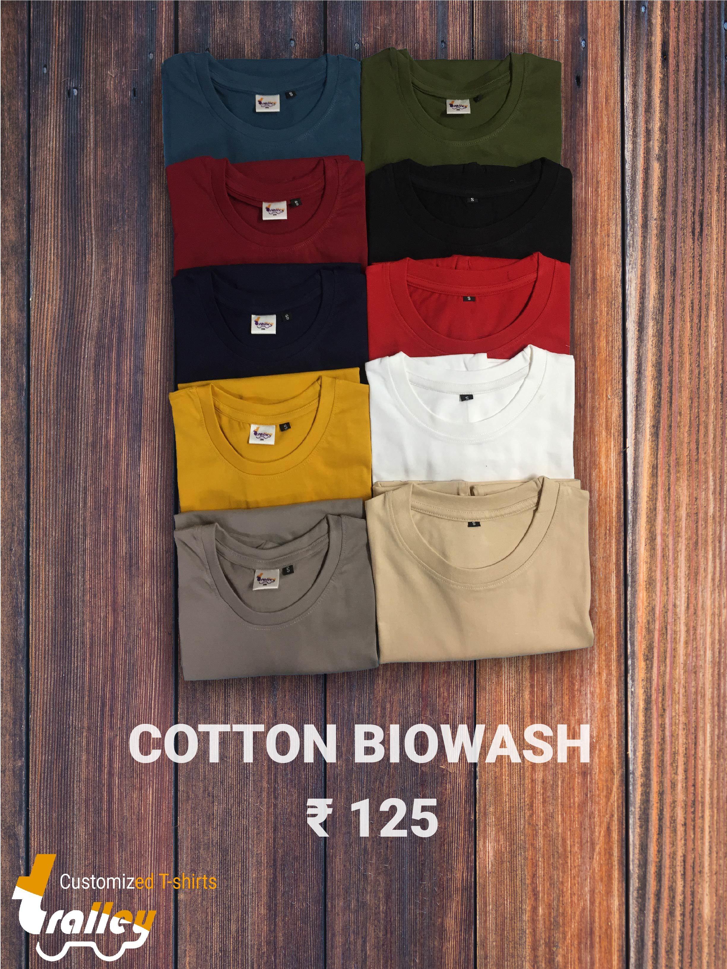 Cotton Round Neck T Shirt