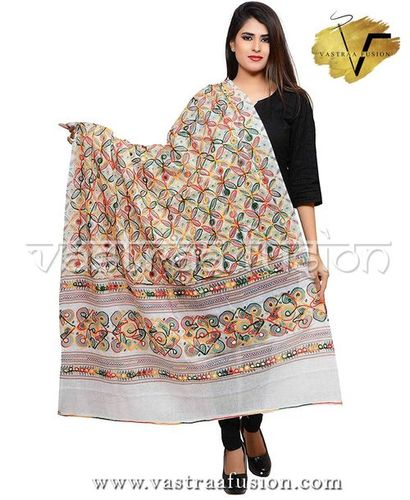 WHITE FLOWER DUPATTA