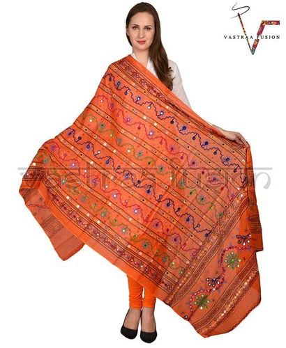 ORANGE LINE DUPATTA