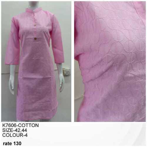 Cotton Chikan Kurtis
