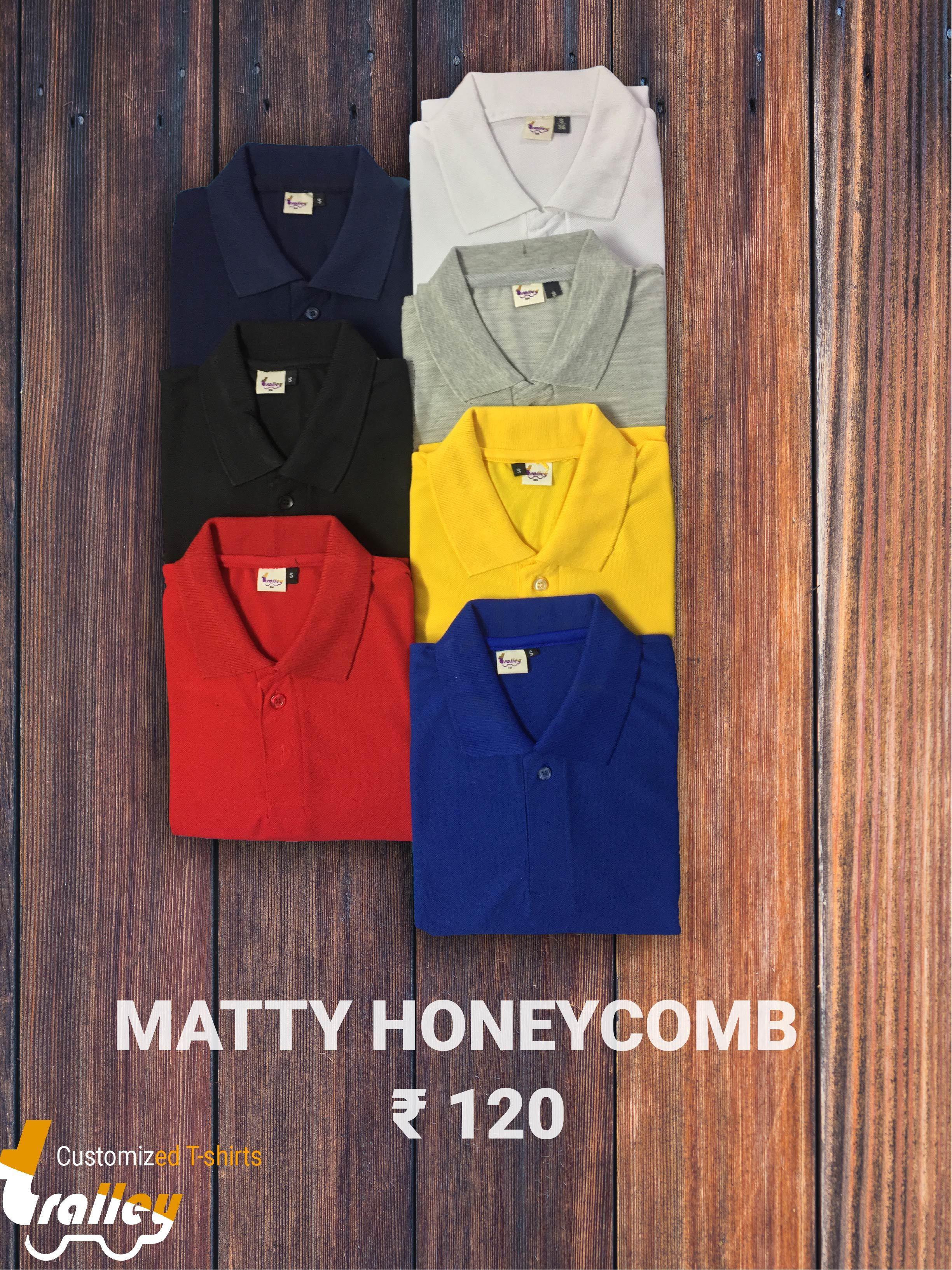 Honeycomb Matty Collar Neck T Shirt